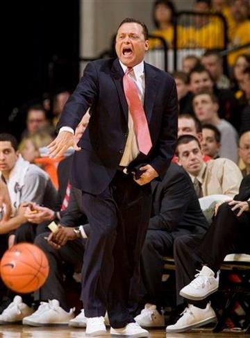 Texas Tech head coach Billy Gillispie argues a call during the first half of an NCAA college basketball game against Missouri Saturday, Jan. 28, 2012, in Columbia, Mo. Missouri won the game 63-50. (AP Photo/L.G. Patterson) By L.G. PATTERSON