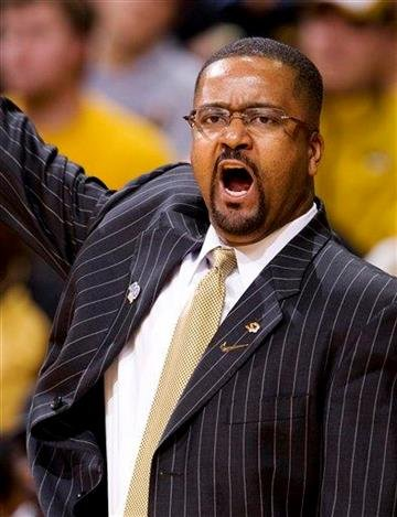 Missouri head coach Frank Haith shouts commands to his team during the first half of an NCAA college basketball game against Texas Tech Saturday, Jan. 28, 2012, in Columbia, Mo. Missouri won the game 63-50. (AP Photo/L.G. Patterson) By L.G. PATTERSON
