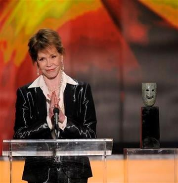 Mary Tyler Moore accepts the Life Achievement award at the 18th Annual Screen Actors Guild Awards on Sunday Jan. 29, 2012 in Los Angeles. (AP Photo/Mark J. Terrill) By Mark J. Terrill