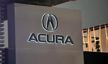 The logo for Acura is viewed during the first day of press previews at the New York International Automobile Show April 4, 2012 in New York.  AFP PHOTO/Stan HONDA (Photo credit should read STAN HONDA/AFP/Getty Images) By STAN HONDA