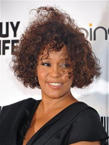 "Singer Whitney Houston arrives at the ""Keep A Child Alive Black Ball"" at the Hammerstein Ballroom on Thursday, Sept. 30, 2010 in New York. (AP Photo/Evan Agostini) By Evan Agostini"
