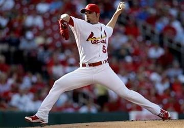 St. Louis Cardinals starting pitcher Jaime Garcia throws during the first inning of a baseball game against the Cincinnati Reds on Tuesday, July 5, 2011, in St. Louis. (AP Photo/Jeff Roberson) By Jeff Roberson