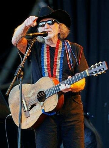 U.S country singer- songwriter Willie Nelson performs on the main stage at Glastonbury Festival, in Glastonbury, England, Friday, June 25, 2010. The Festival celebrates its 40th anniversary this year. (AP Photo/Jim Ross) By Jim Ross
