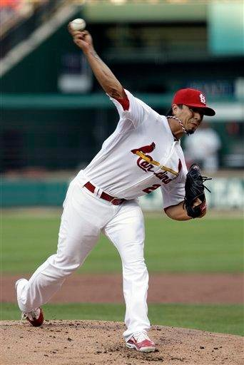 St. Louis Cardinals starting pitcher Kyle Lohse works in the second inning of a baseball game against the Arizona Diamondbacks, Friday, July 8, 2011 in St. Louis.(AP Photo/Tom Gannam) By TOM GANNAM
