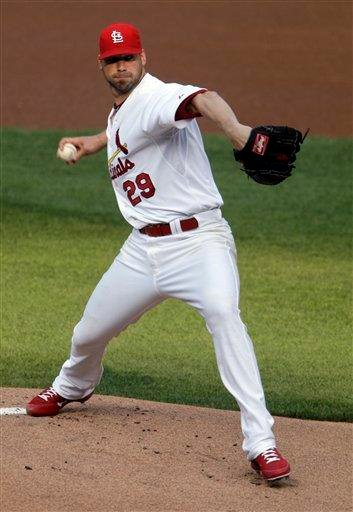 St. Louis Cardinals starting pitcher Chris Carpenter works in the first inning of a baseball game against the Arizona Diamondbacks, Saturday, July 9, 2011 in St. Louis.(AP Photo/Tom Gannam) By Tom Gannam