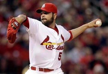 St. Louis Cardinals starting pitcher Jaime Garcia throws during the fourth inning of a baseball game against the Philadelphia Phillies Tuesday, May 17, 2011, in St. Louis. (AP Photo/Jeff Roberson) By Jeff Roberson