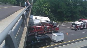 This photo of the crash on Interstate 44 at Edgar Road was submitted by a KMOV.com user. By KMOV Web Producer