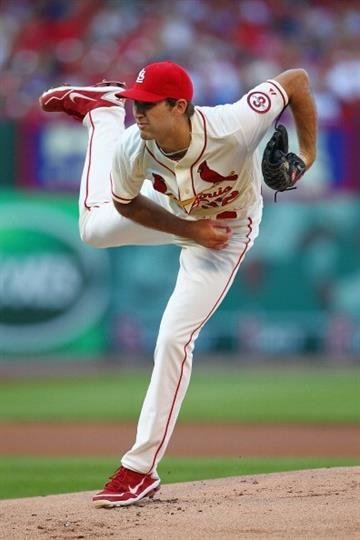 ST. LOUIS, MO - AUGUST 10: Starter Michael Wacha #52 of the St. Louis Cardinals pitches against the Chicago Cubs at Busch Stadium on August 10, 2013 in St. Louis, Missouri.  (Photo by Dilip Vishwanat/Getty Images) By Dilip Vishwanat