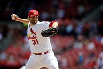 St. Louis Cardinals starting pitcher Lance Lynn throws during the first inning of a baseball game against the Pittsburgh Pirates on Thursday, Aug. 15, 2013, in St. Louis. (AP Photo/Jeff Roberson) By Jeff Roberson