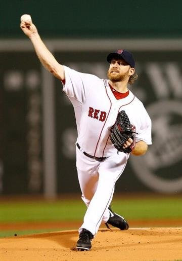 BOSTON, MA - AUGUST 18: Ryan Dempster #46 of the Boston Red Sox pitches against the New York Yankees during the game on August 18, 2013 at Fenway Park in Boston, Massachusetts. (Photo by Jared Wickerham/Getty Images) By Jared Wickerham