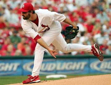 A Cardinal-bred starter, Morris was with the club from 1997 until 2005. In that time he fanned 986 while walking only 378. He won 101 games, with 22 coming in 2001. By Elsa