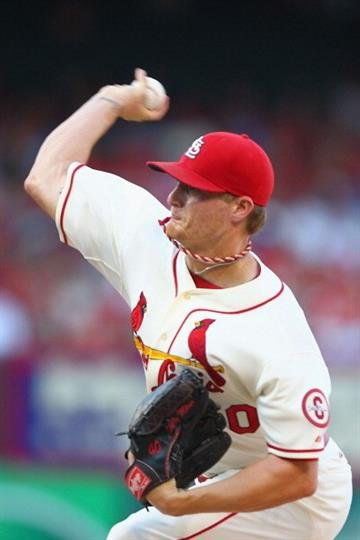 ST. LOUIS, MO - AUGUST 24: Starter Shelby Miller #40 of the St. Louis Cardinals pitches against the Atlanta Braves at Busch Stadium on August 24, 2013 in St. Louis, Missouri.  (Photo by Dilip Vishwanat/Getty Images) By Dilip Vishwanat