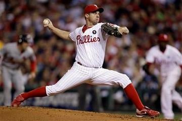 Philadelphia Phillies' Roy Oswalt pitches during the second inning of a baseball game against the St. Louis Cardinals, Saturday, Sept. 17, 2011, in Philadelphia. (AP Photo/Matt Slocum) By Matt Slocum