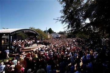 Republican presidential candidate, former Massachusetts Gov. Mitt Romney speaks at Pioneer Park in Dunedin, Fla., Monday, Jan. 30, 2012. (AP Photo/Paul Sancya) By Paul Sancya