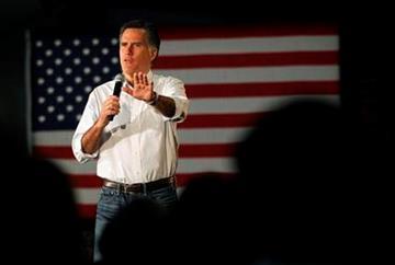 Republican presidential candidate, former Massachusetts Gov. Mitt Romney speaks at a campaign rally in Atlanta, Wednesday, Feb. 8, 2012. (AP Photo/Gerald Herbert) By Gerald Herbert