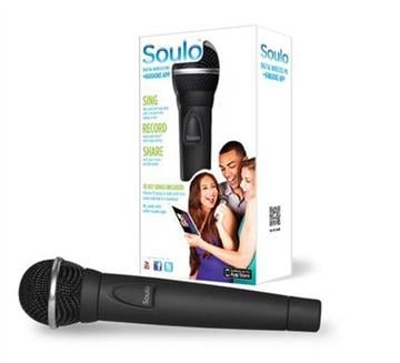 This product image provided by First Act, Inc., shows the Soulo Digital Wireless Mic and App, a consumer electronics product that turns an iPad into a karaoke machine. (AP Photo/First Act, Inc.) By Bryce Moore