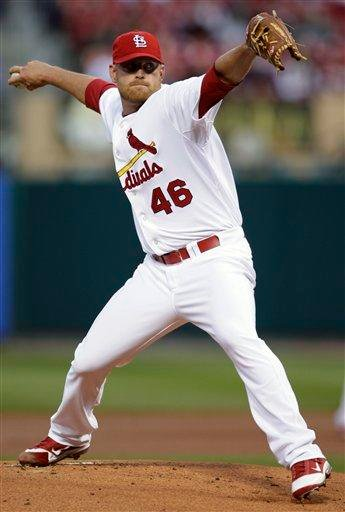 St. Louis Cardinals pitcher Kyle McClellan throws during the first inning of a baseball game against the Pittsburgh Pirates on Tuesday, April 5, 2011, in St. Louis. (AP Photo/Tom Gannam) By Tom Gannam