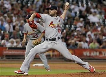 St. Louis Cardinals' Jaime Garcia delivers a pitch in the first inning of a baseball game against the Houston Astros on Tuesday, April 26, 2011, in Houston. (AP Photo/Pat Sullivan) By Pat Sullivan