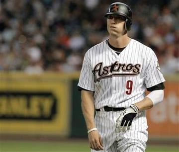 Houston Astros' Hunter Pence reacts to grounding out to end the first inning against the St. Louis Cardinals in a baseball game Tuesday, April 26, 2011, in Houston. (AP Photo/Pat Sullivan) By Pat Sullivan