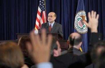 Federal Reserve Chairman Ben Bernanke speaks during a news conference at the Federal Reserve in Washington, Wednesday, April 27, 2011. (AP Photo/Susan Walsh) By Susan Walsh