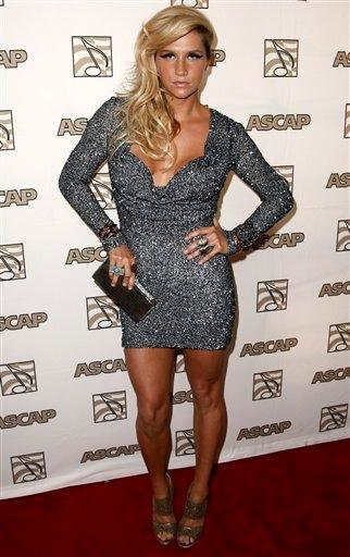 Musician Ke$ha arrives at the 28th Annual ASCAP Pop Music Awards in Los Angeles, Wednesday, April 27, 2011. The ASCAP awards honor songwriters and publishers of the most performed songs of 2010. (AP Photo/Matt Sayles) By Matt Sayles