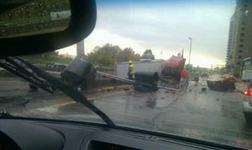 KMOV.com user T. Mitchell sent us this photo that was taken as they drove up on the crash. By Bryce Moore