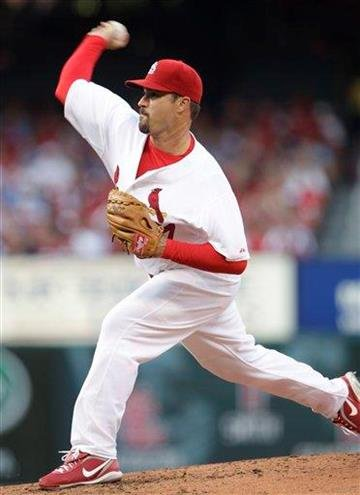 St. Louis Cardinals starting pitcher Jeff Suppan delivers in the third inning of a baseball game against the Pittsburgh Pirates, Saturday, July 31, 2010, in St. Louis.(AP Photo/Tom Gannam) By Tom Gannam
