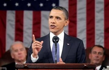 President Barack Obama delivers his State of the Union address on Capitol Hill in Washington, Tuesday, Jan. 25, 2011.  (AP Photo/Pablo Martinez Monsivais, Pool) By Pablo Martinez Monsivais