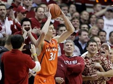 Illinois forward Bill Cole (30) looks to inbound the basketball during the second half of an NCAA college basketball game against Indiana in Bloomington, Ind., Thursday, Jan. 27, 2011. Indiana won 52-49. (AP Photo/Darron Cummings) By Darron Cummings