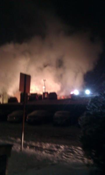 This photo shows the aftermath of the Kirkwood apartment fire on Feb. 1, 2011. By KMOV Web Producer