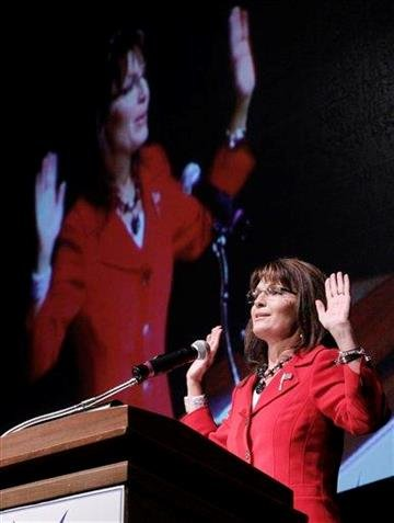 Former Alaska Gov. Sarah Palin speaks  during an anti-abortion fund raising event in Dallas, Wednesday, Nov. 10, 2010. (AP Photo/LM Otero) By LM Otero