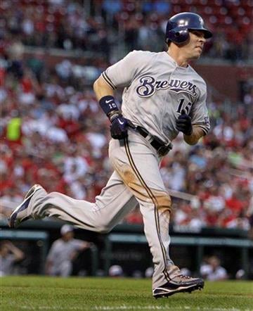 Milwaukee Brewers' Jim Edmonds rounds the bases on a solo home run during the eighth inning of a baseball game against the St. Louis Cardinals Saturday, July 3, 2010, in St. Louis. (AP Photo/Jeff Roberson) By Jeff Roberson