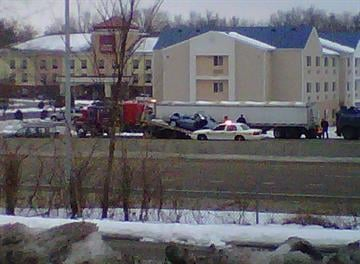 Crash on I-64 near Highway 159 in Fairview Heights. By Afton Spriggs