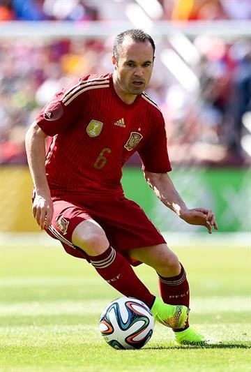 Andres Iniesta may be getting older, but he is arguably the best player on Spain, which has won its past three major international tournaments. By David Ramos