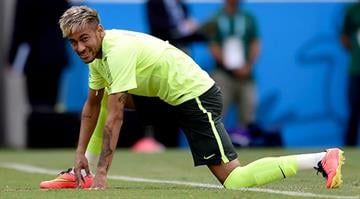 Neymar of Brazil in action during a training session at Castelao Stadium on June 16, 2014 in Fortaleza, Brazil.  (Photo by Buda Mendes/Getty Images) By Buda Mendes