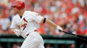 ST. LOUIS, MO - SEPTEMBER 3: Matt Holliday #7 of the St. Louis Cardinals follows through on a base hit against the New York Mets at Busch Stadium on September 3, 2012 in St. Louis, Missouri. (Photo by Jeff Curry/Getty Images) By KMOV Web Producer