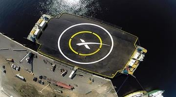 SpaceX will try to keep the base rocket section in good shape by landing it -- standing straight up -- on a barge floating in the ocean. The planned takeoff and controlled landing is scheduled either Jan. 6 or 7, 2015. By Stephanie Baumer
