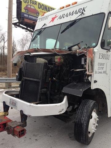 Police say a man attempted to rob a Gravois Bluffs store, stole an Aramark delivery truck and then crashed it near a local elementary school. By Stephanie Baumer