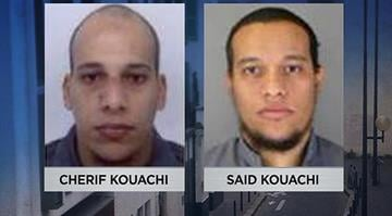 French police published the names and photographs of 2 suspects wanted in connection with the Paris terror attack Wednesday, Jan 7, 2015: Cherif Kouachi and Said Kouachi. By Stephanie Baumer