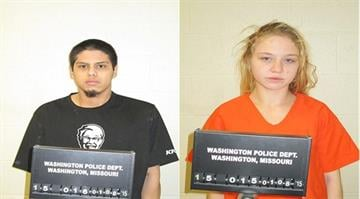 Oscar Rivera and Ciera Ruengert have been charged with first degree robbery, armed criminal action and endangering the welfare of a child By Ryan Storz