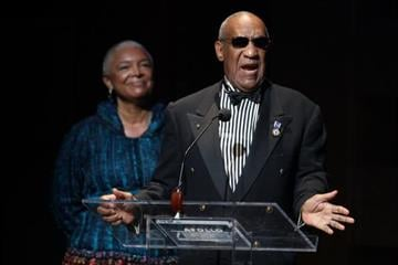 NEW YORK - JUNE 08:  Bill Cosby and his wife Camille Cosby speak onstage at the Apollo Theater 75th Anniversary Gala at The Apollo Theater on June 8, 2009 in New York City.  (Photo by Bryan Bedder/Getty Images) By Bryan Bedder