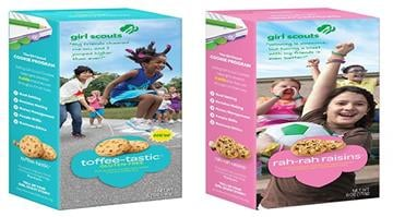 The Girls Scouts fo the USA announced on Jan. 5, 2015, three new varities of cookie for the 2015 season. The offerings include two new gluten-free offerings, Toffee-tastic and Trios, and a third cookie, Rah-Rah Rasins. By Stephanie Baumer
