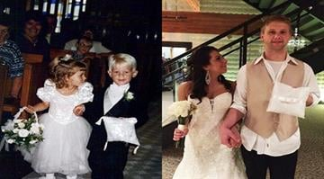 Briggs and Brittney Fussy first walked down the aisle 20 years ago. By Stephanie Baumer