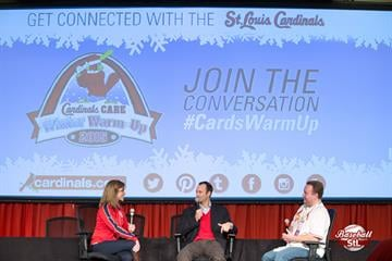 #BaseballStL: Cardinals Winter Warm Up 2015 // Day 1, featuring Great Day St. Louis hosts Claire Kellett & Matt Chambers.  Featured guests included Bill DeWitt, Jr. & Bill DeWitt III. By Zach Dalin