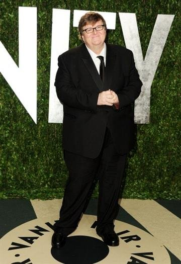 WEST HOLLYWOOD, CA - FEBRUARY 26:  Michael Moore arrives at the 2012 Vanity Fair Oscar Party hosted by Graydon Carter at Sunset Tower on February 26, 2012 in West Hollywood, California.  (Photo by Pascal Le Segretain/Getty Images) By Pascal Le Segretain