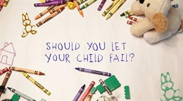 """An illustration to accompany Kelly Wallace's piece, """"Brutally Honest: Is it OK to let your child fail?"""" By Stephanie Baumer"""