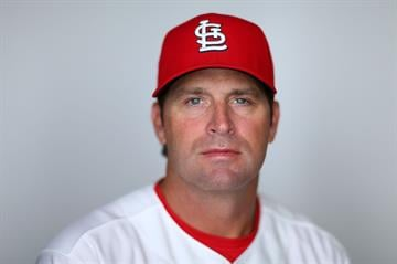 JUPITER, FL - FEBRUARY 19:  Manager Mike Matheny #22 of the St. Louis Cardinals poses during photo day at Roger Dean Stadium on February 19, 2013 in Jupiter, Florida.  (Photo by Mike Ehrmann/Getty Images) By Mike Ehrmann