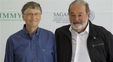 Carlos Slim and Bill Gates By Eduardo Verdugo