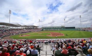 FORT MYERS, FL - FEBRUARY 26: People watch during the game between the St. Louis Cardinals and the Boston Red Sox at JetBlue Park on February 26, 2013 in Fort Myers, Florida.  (Photo by Leon Halip/Getty Images) By Leon Halip