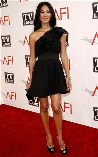 "Kimora Lee Simmons arrives at the taping of ""TV Land Presents: AFI Life Achievement Award Honoring Morgan Freeman"" in Culver City, Calif., Thursday, June 9, 2011. The special will air June 19th on TV Land. (AP Photo/Matt Sayles) By Matt Sayles"